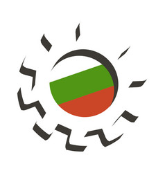 3d cog wheel with flag of bulgaria vector image