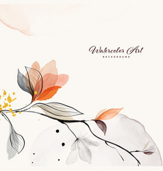 Abstract background watercolor orange flower vector
