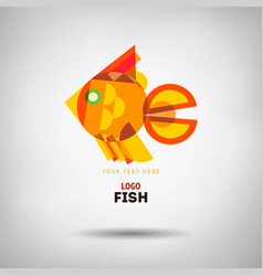 abstract geometrical style fish logo vector image