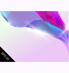 abstract with magic tender background flying silk vector image