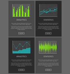 analytics and statistics data chart representation vector image