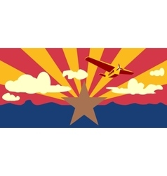 arizona state flag elements vector image