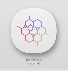 Biomimetic materials app icon biological vector