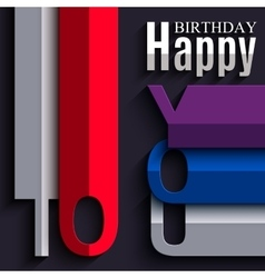 Birthday card with wishes text in the style vector