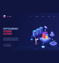 Blockchain crypto currency cryptocurrency vector