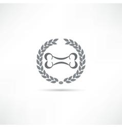 bone icon vector image