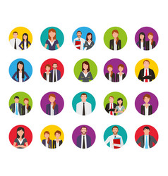 bundle business people group vector image