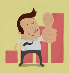 BusinessmanThumb vector image