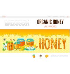 cartoon beekeeping web page template vector image