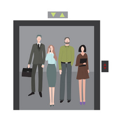 cartoon office workers characters men and women in vector image