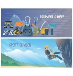 Climbing Banner vector