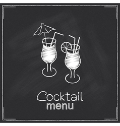 Cocktail menu design vector image