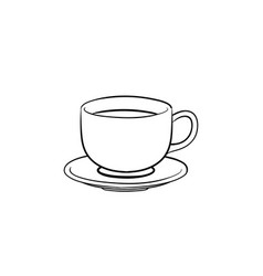 coffee cup hand drawn sketch icon vector image