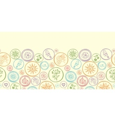 Colorful circles horizontal seamless pattern vector image