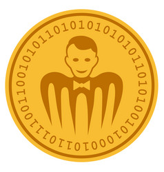 Croupier monster digital coin vector