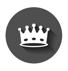 crown diadem icon in flat style royalty crown vector image