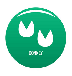 Donkey step icon green vector