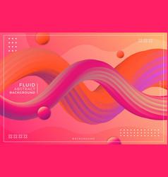 dynamic wavy fluid gradient abstract liquid pink vector image
