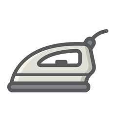electric iron colorful line icon household vector image