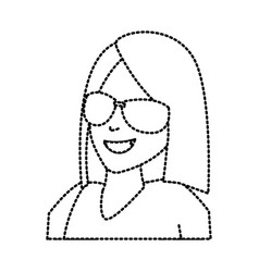 Faceless woman with glasses vector