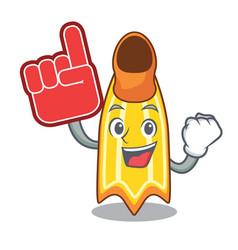 Foam finger swim fin mascot cartoon vector