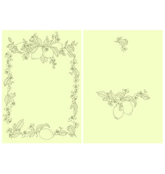 frame with lemon plant a very rich frame on the vector image