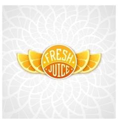 Fresh juice label vector image