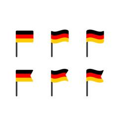 germany flag icons set german flag symbol vector image