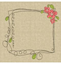 Glamorous doodle frames vector