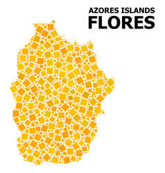 Golden rotated square pattern map azores vector