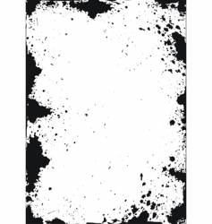Grunge texture with ink spots vector