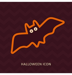 Halloween Bat silhouette icon vector