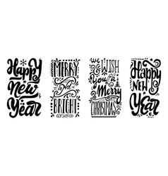Happy new year We wish you a merry christmas vector image