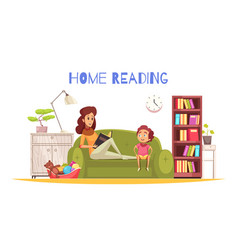 Home reading background vector