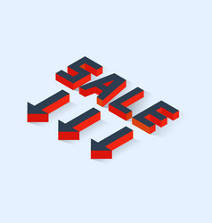 isometric sale icon vector image