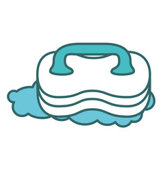 Laundry brush isolated icon vector