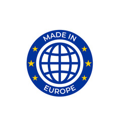 made in europe quality label made in european vector image