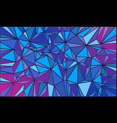 magenta blue triangle abstract background vector image