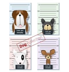Mugshot of cute dogs holding a banner 1 vector image