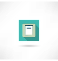office tablet icon vector image