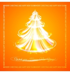 Orange tree of glowing stripes vector image