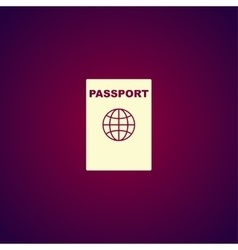 Passport icon concept for vector image