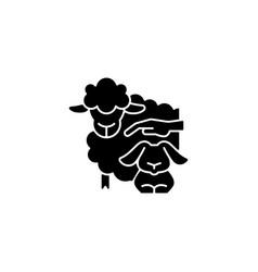 Petting zoo black glyph icon vector