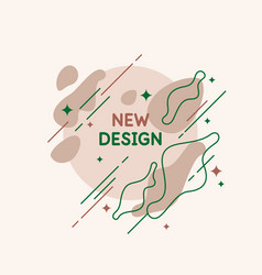 poster with simple flat organic shapes and lines vector image