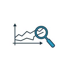Predictive analytics icon set four elements in vector