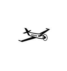 private plane with the fan for logo design vector image