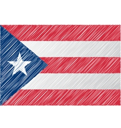 Puerto rico flag vector