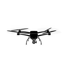 quadcopter or copter flying in air camera and vector image