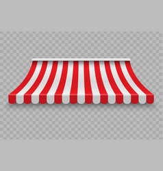 Realistic outdoor awning vector