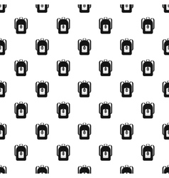 School backpack pattern simple style vector image
